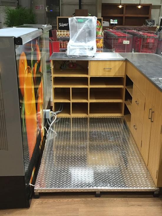 plataforma para despacho antiderrapante